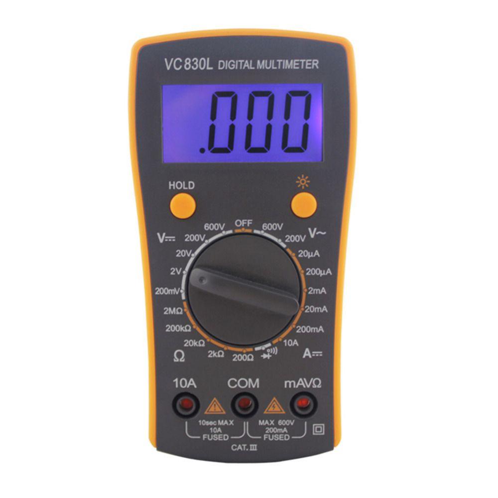 AC DC Écran LCD Professionnel de Poche Électrique Testeur Compteur Multimètre Numérique Multimetro Ammeter Multitester