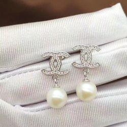 Mode naturel d'eau douce perles boucles d'oreilles Naturel pierres précieuses boucles d'oreilles Élégant personnalité 925 argent bijoux des femmes parti