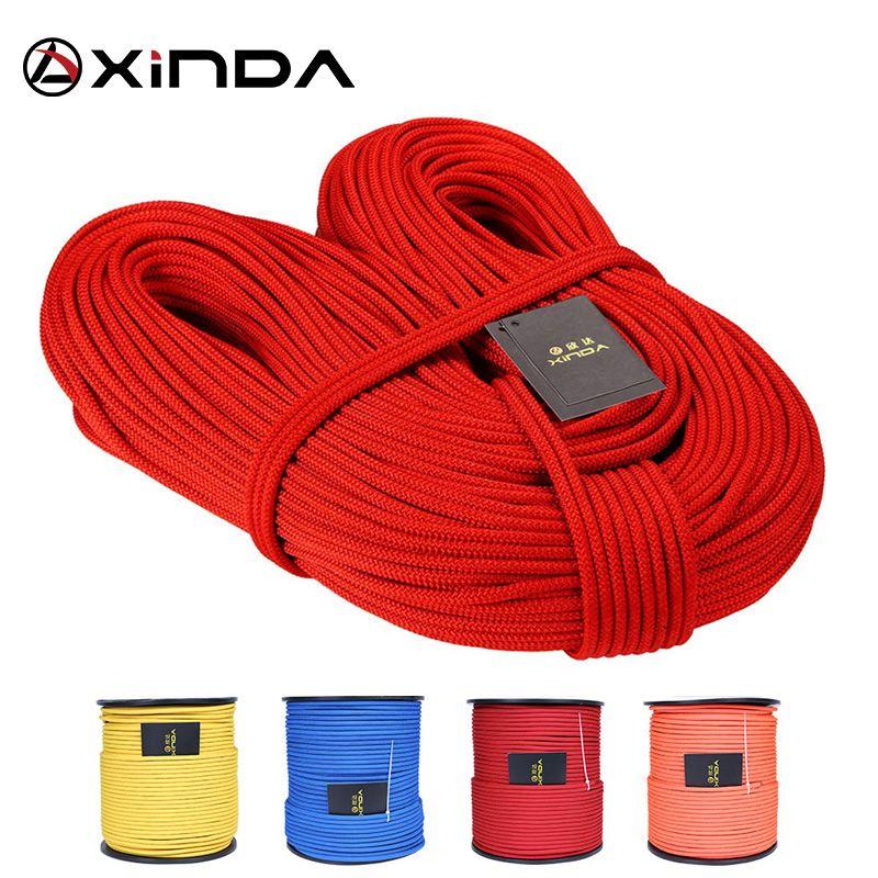XINDA Escalada 10 M XINDA corde d'escalade professionnelle 6mm diamètre haute résistance équipement corde de sécurité corde de survie