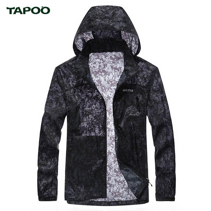 Tapoo Для мужчин Защита от Солнца защиты брендовая одежда Для мужчин Защита от солнца куртка доказательства и Пальто для будущих мам Камуфляж ...