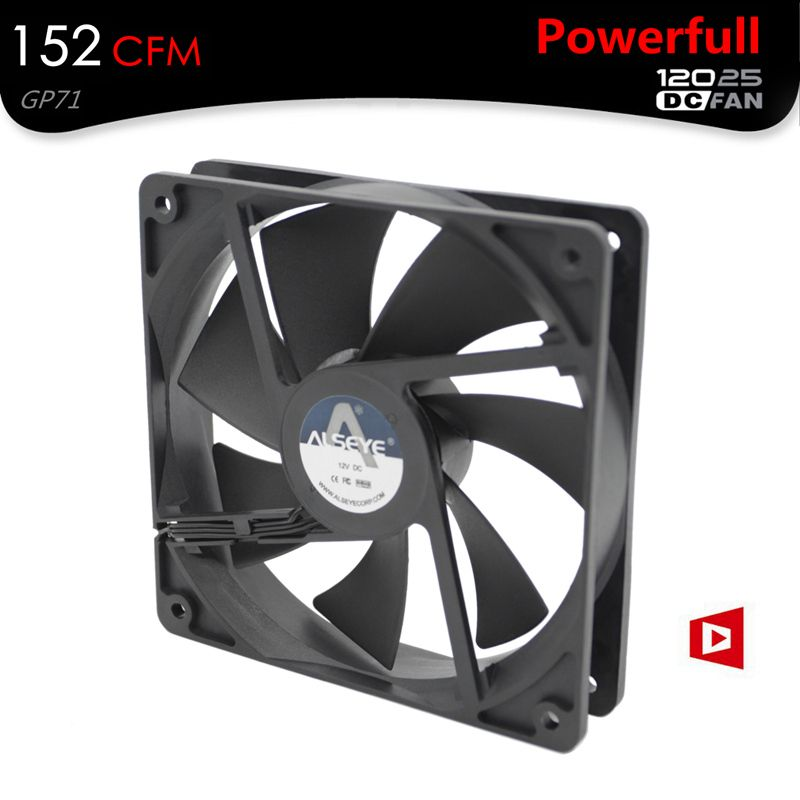 ALSEYE 120mm Fan Cooler 152 CFM DC 12V 4200RPM Powerful Mining Fan 3pin Ball Bearing High Strong Cooling Fan for Miner