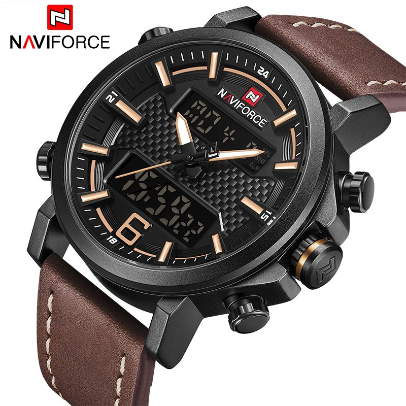 Luxury Brand NAVIFORCE Men Military Quartz Watches Men's LED Date Analog Digital Watch Male Casual Sport Clock Relogio Masculino