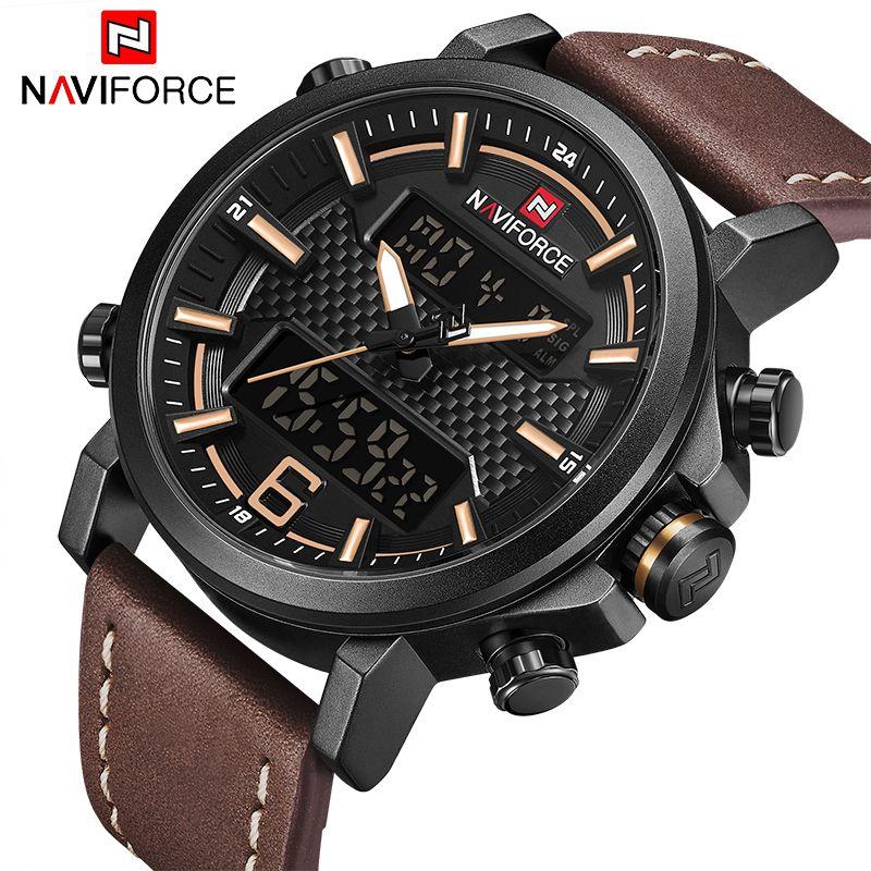 Luxury Brand NAVIFORCE Men Military Quartz Watches Men's LED Date Analog Digital Watch Male Casual Sport Clock Relogio Masculino