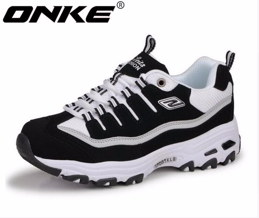 ONKE New listing of Hot sales Spring and Autumn Breathable Women & Men running shoes sneakers lovers sports shoes 795-595