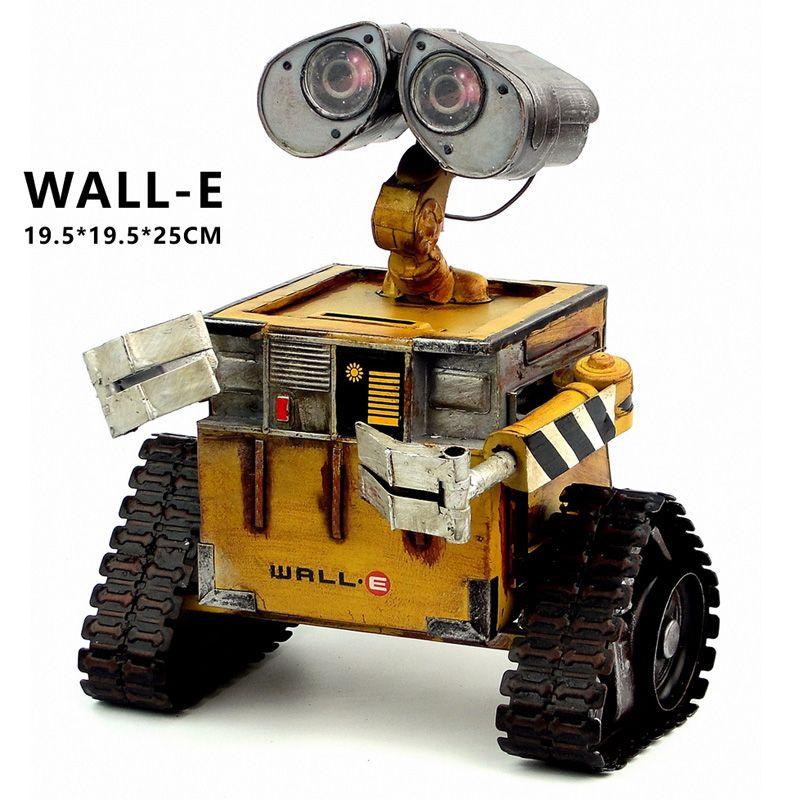 Wall-E Robot film modèle laminé à froid en acier métal Action Figure jouet poupée robote personnelle artisanat fait main juguetes figuras mur e