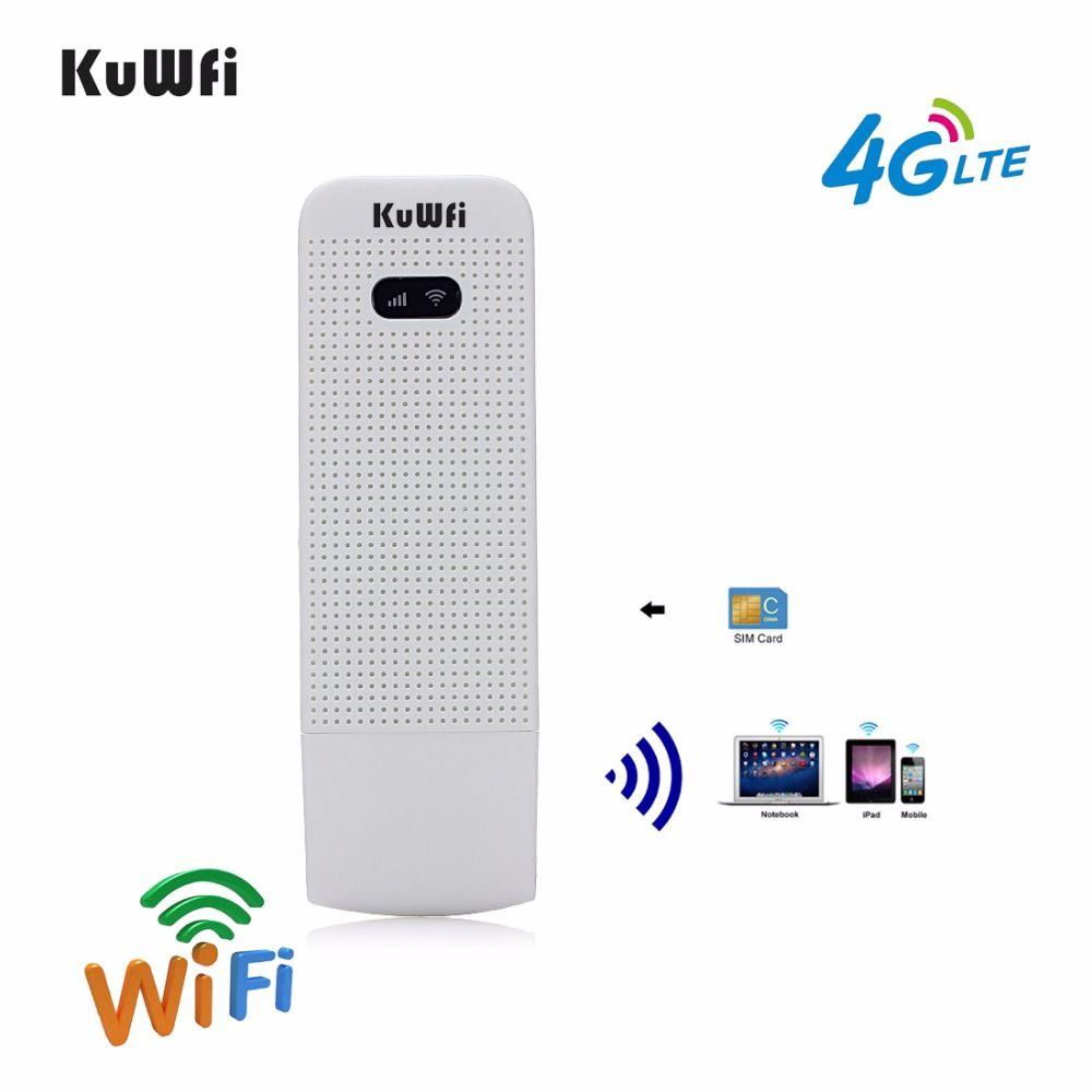 KuWfi Entsperrt 4G Wifi Router USB Wireless WIFI Modem LTE Wireless USB Netzwerk Hotspot Dongle Mit SIM Einbauschlitz