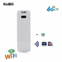 Kuwfi Dibuka Router WiFi 4G USB Wireless Modem Wifi LTE Nirkabel USB Jaringan Hotspot Dongle dengan Slot Kartu SIM