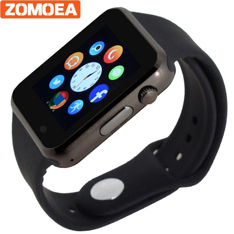 Bluetooth Smart часы Поддержка sim-карты SD электроники наручные часы-телефон для Android-смартфон синий зеленый розовый ремешок PK Q18 dz09