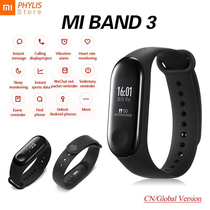 Original Xiaomi Mi Band 3 Sport Smart Band Fitness Bracelet Pedometer Tracker Wristband Touch Screen Xiomi Miband 3 Mi Band 2