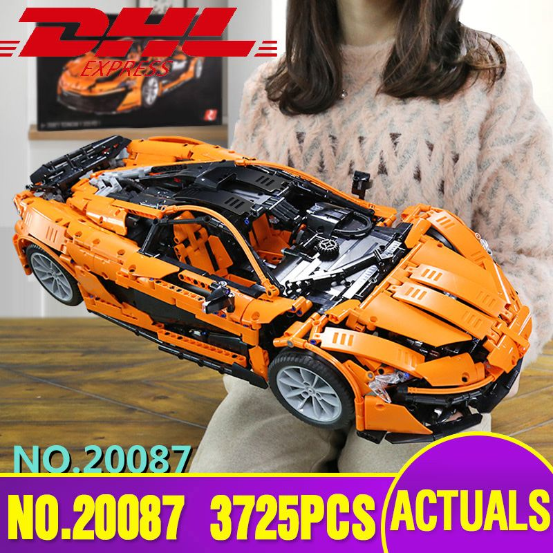 Lepin 20087 23018 Technic Car The MOC-16915 Orange Super Racing Car Set Building Blocks Bricks Legoing Toy Christmas Gift 21004A