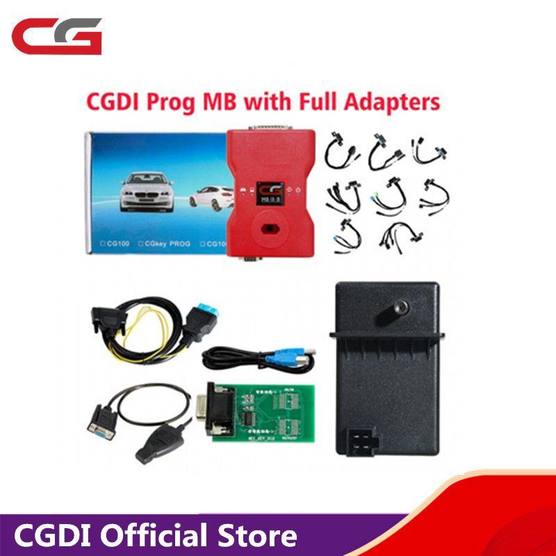 CGDI Prog Auto Schlüssel Programmierer für MB Benz Support Alle Schlüssel Verloren mit Vollen Adaptern für ELV Reparatur