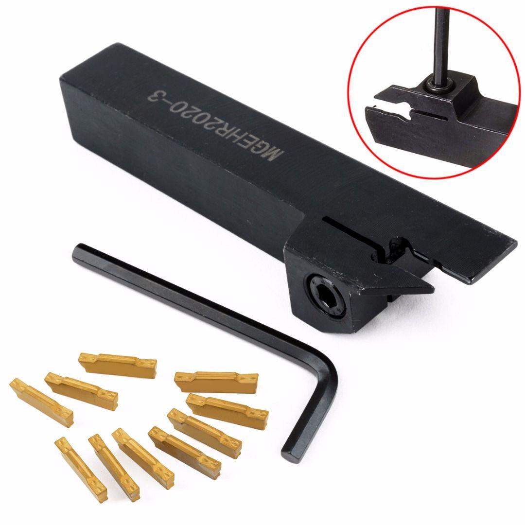 1 stück MGEHR2020-3 Werkzeughalter Rechte Hand Bohrstange + 10 stücke MGMN300-M Einsätze mit Schlüssel Für Drehwerkzeug
