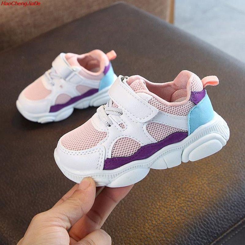 HaoChengJiaDe enfants chaussures de sport garçons filles printemps amortissement chaussures décontractées enfant en bas âge glisser Patchwork respirant baskets enfants chaussures
