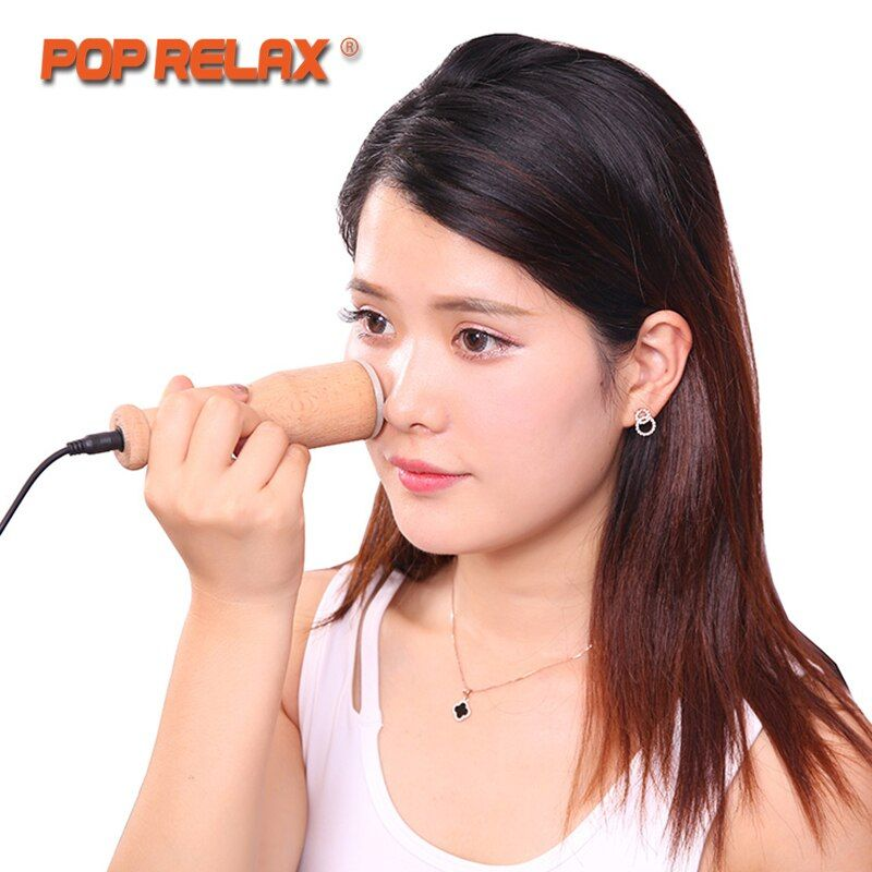 POP RELAX Real Jade Heating Roller Moxa Facial Beauty Skincare Device Remove Nasolabial Folds Wrinkles Health Care Face Massage