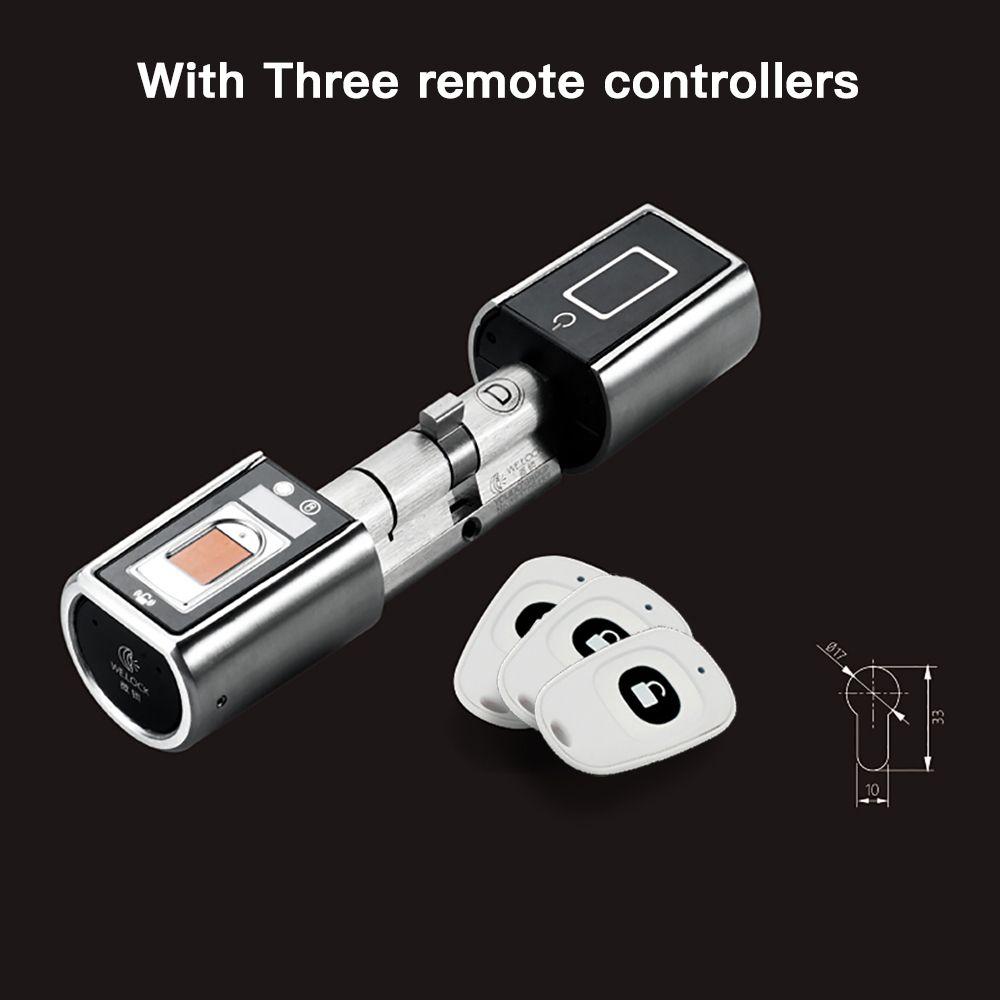 L5SR-Plus WELOCK Bluetooth APP Smart Lock Elektronische Zylinder Im Freien Wasserdichte Keyless Biometrische Fingerabdruck-scanner türschloss