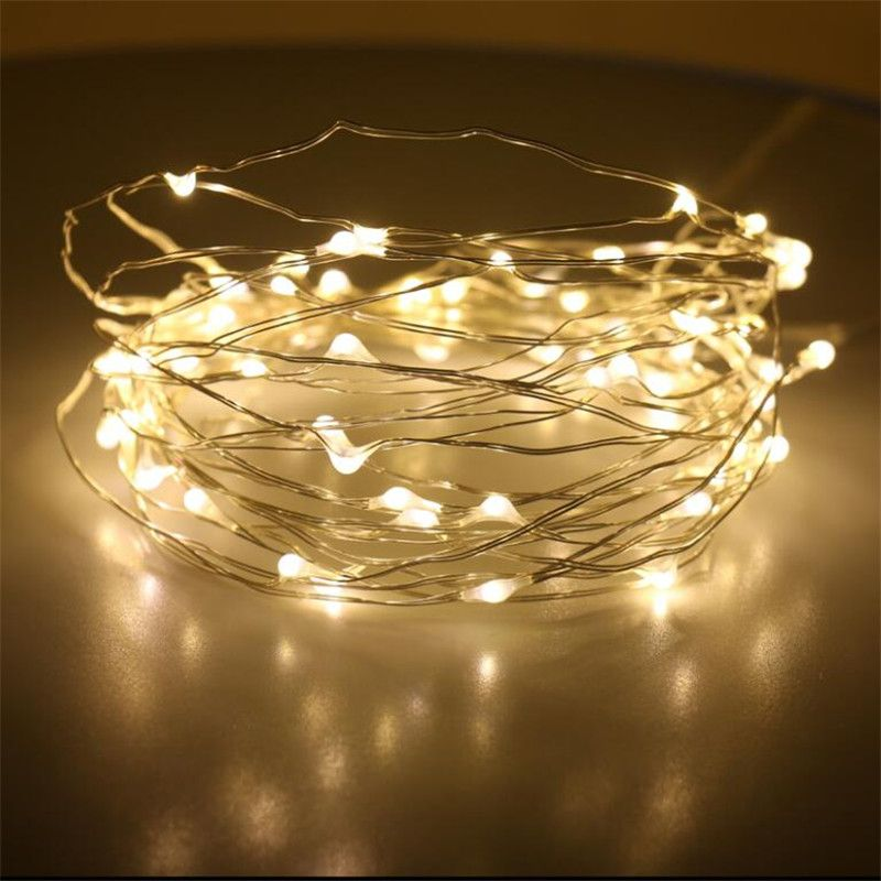 Waterproof 5M Multicolor 50 LED String Light Solar Power Copper Wire LED Fairy Light Christmas Wedding Party Decor
