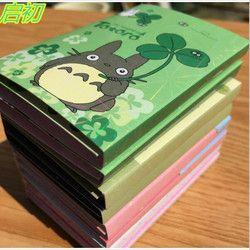 Kawaii Totoro lindo Melody 6 plegable Memo pad notas adhesivas Memo Bloc de notas n veces publicado Marcadores papelería regalo