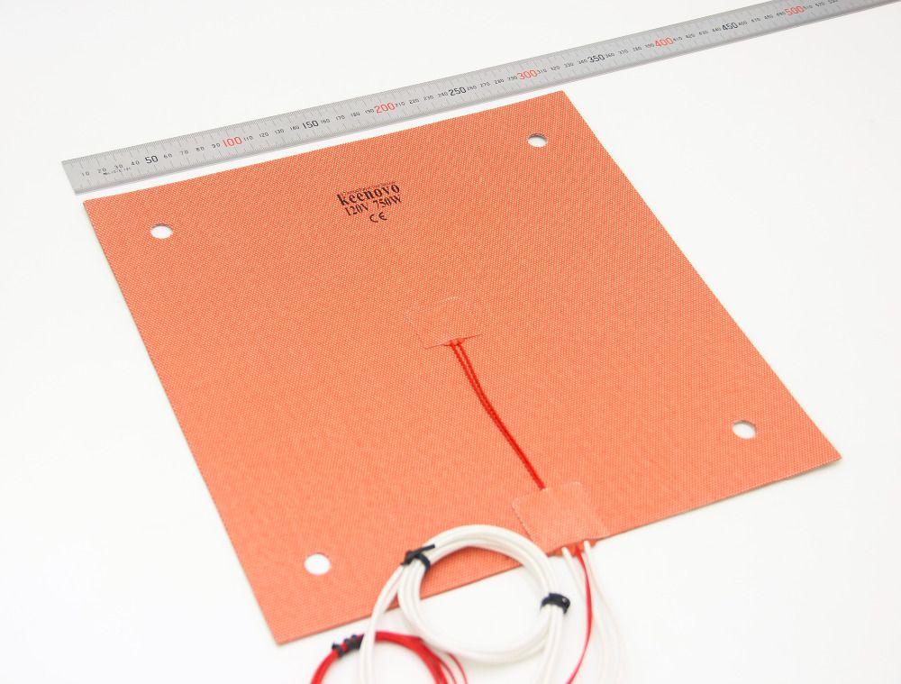 KEENOVO coussin chauffant en Silicone 310x310mm pour lit d'imprimante 3D Creality CR-10 avec trous de vis, support adhésif et capteur