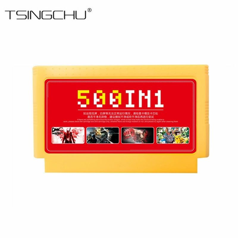 500 in 1 Family Game Memory Card For Video TV Console 8 Bit 60 Pins Game Card Classic Games Collection For Handheld Game Players