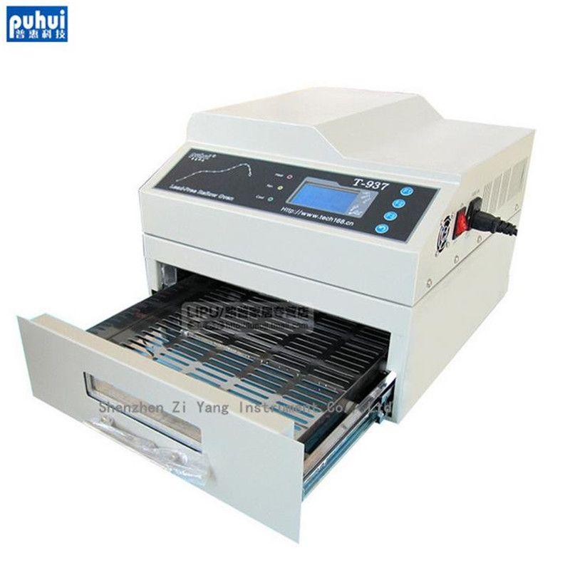 Orignal PUHUI T-937 2300W Lead-free Reflow Oven 220V Infrared IC Heater BGA SMD SMT T937 Reflow Solder Oven
