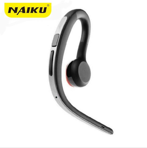 NAIKU Handsfree Business Bluetooth Headphone With Mic Voice Control Wireless Bluetooth Headset For Drive <font><b>Noise</b></font> Cancelling