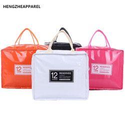 PU кожаный ланч-пакет ледяной пакет термоконтейнер для еды сумка для женщин дети ланчбэги сумка-холодильник Ланч-бокс Теплоизоляционный про...