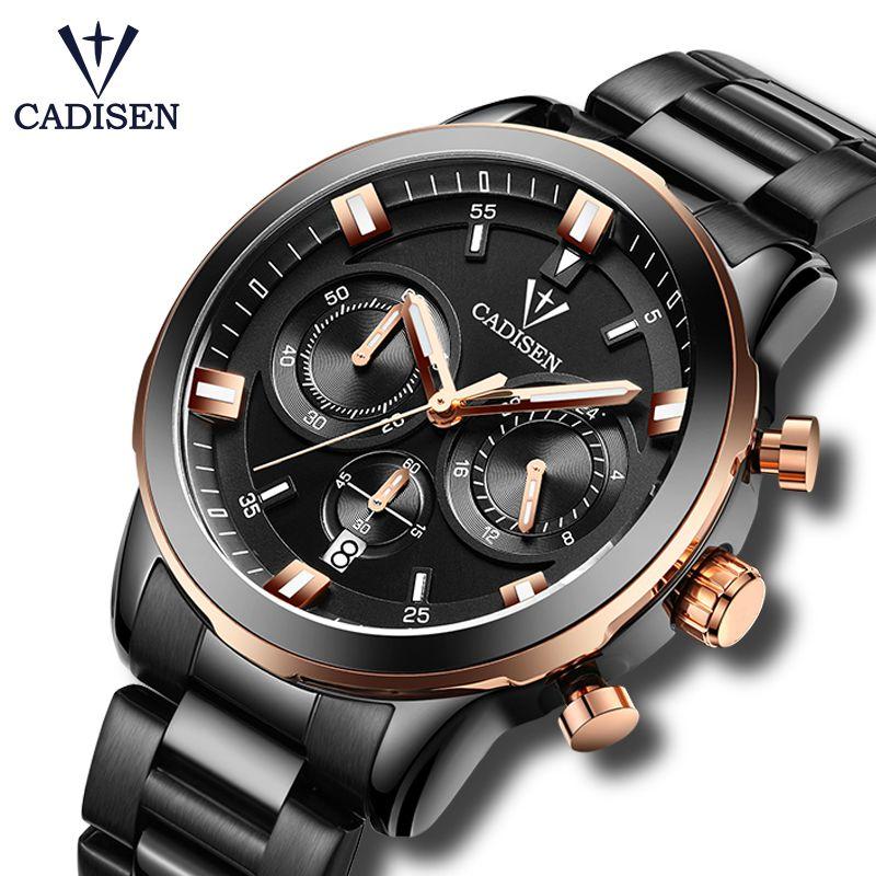 2017 neue CADISEN Quarzuhren Männer Luxusmarke armee Wasserdichte Uhr sechs-poligen Sport Military Armbanduhren relogio masculino