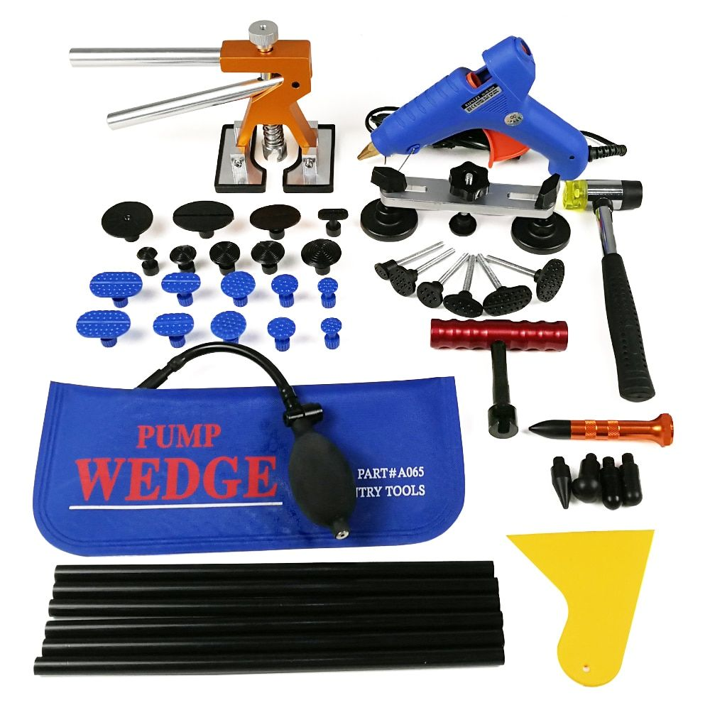 PDR Tools Paintless Dent Repair Tools Car Hail Damage Repair Tool Hot Melt Glue Sticks Glue Gun Puller Tabs Kit