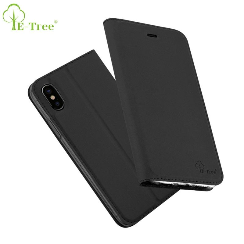 E-Baum Marke pu ledertasche für iphone x fall luxus flip abdeckung für apple iphone x haut ultra slim case brieftasche telefon fall