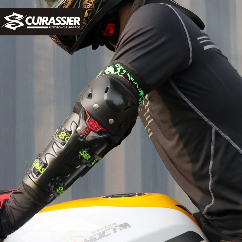 Équipement de moto Protection genouillère protections Motocross orthèse protecteur genou course MX vtt coudières Protection Cuirassier