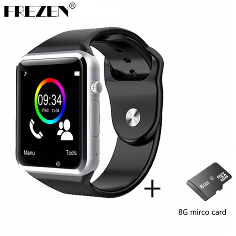 FREZEN Bluetooth Smart Watch A1 W8 WristWatch MTK6261D Sport Pedometer Sim Card Smartwatch For Android <font><b>Smartphone</b></font>