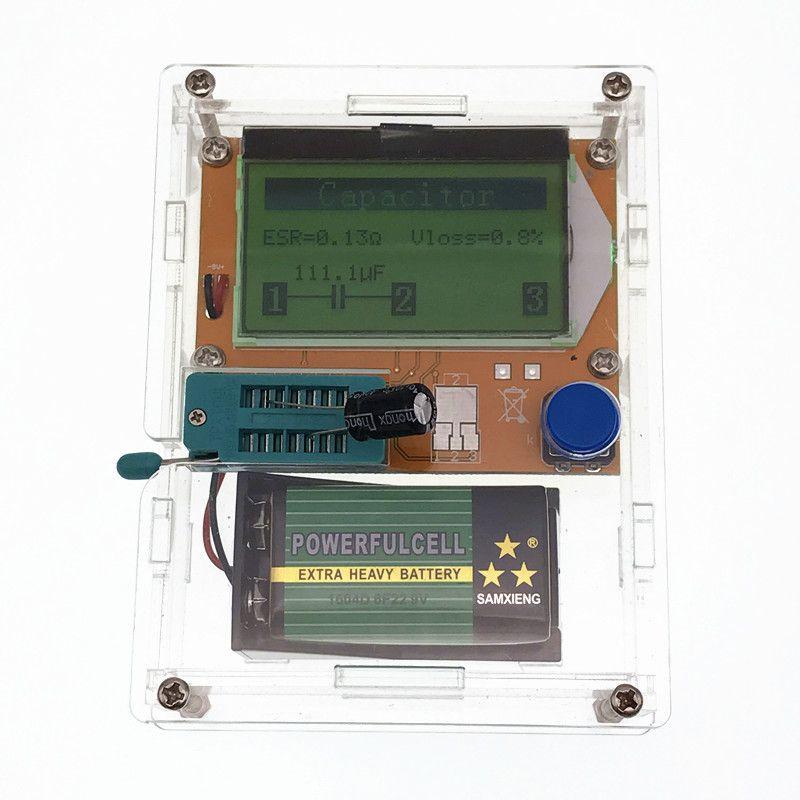 2016 Nouveau LCD 12864 Mega328 Transistor Testeur de Diodes Triode Capacité ESR LCR Mètre + cas (pas La Batterie)