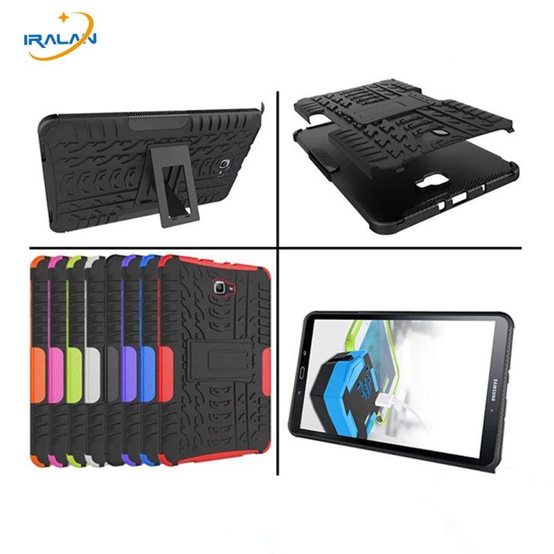 2017 nouveau étui pour samsung Galaxy Tab A 10.1 2016 T580 T585 armure béquille dur Cove 10.1 pouces tablette + film d'écran + stylet gratuit