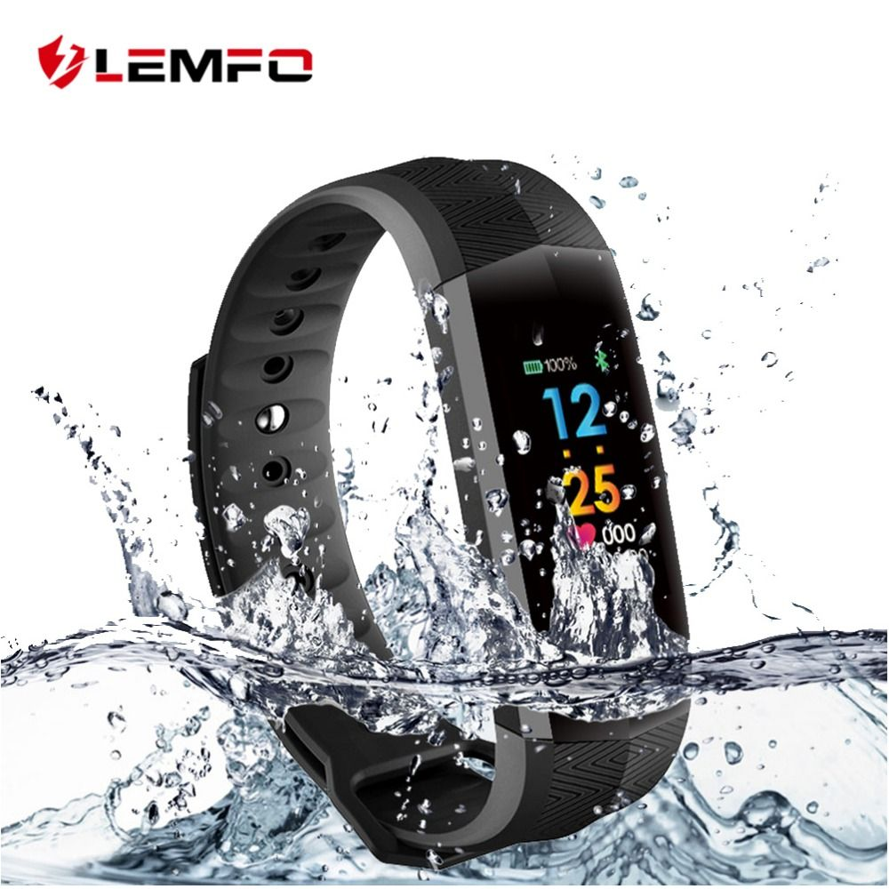 LEMFO CD02 Waterproof  Fitness Bracelet GPS Bluetooth Color Lcd Screen Sport Wrist Band Smart watches Heart Rate Tracker