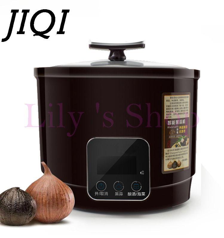 JIQI 6L Automatic Black garlic fermenter household DIY zymolysis zymosis pot maker 110V 220V black garlic fermenting machine EU