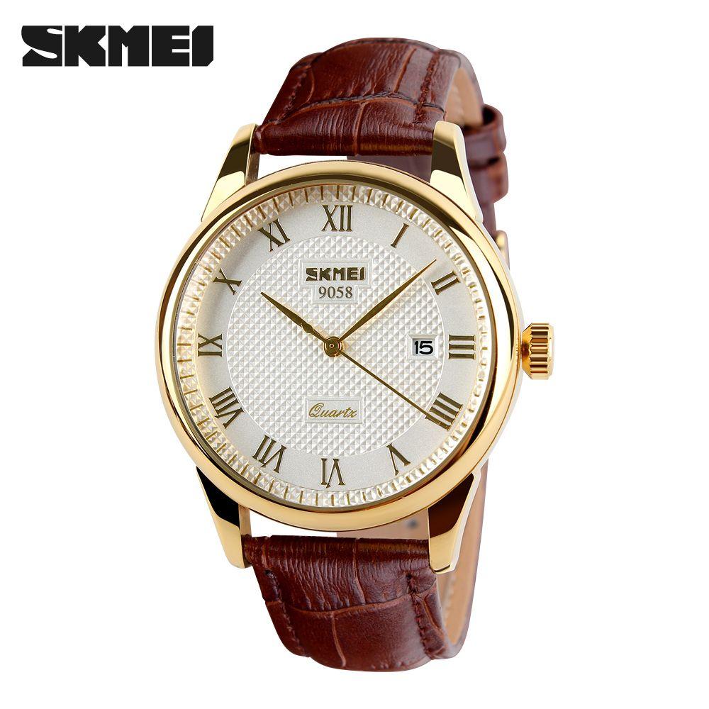 Mens Watches Top Brand Luxury Quartz Watch Skmei Fashion Casual Business Wristwatches <font><b>Waterproof</b></font> Male Watch Relogio Masculino