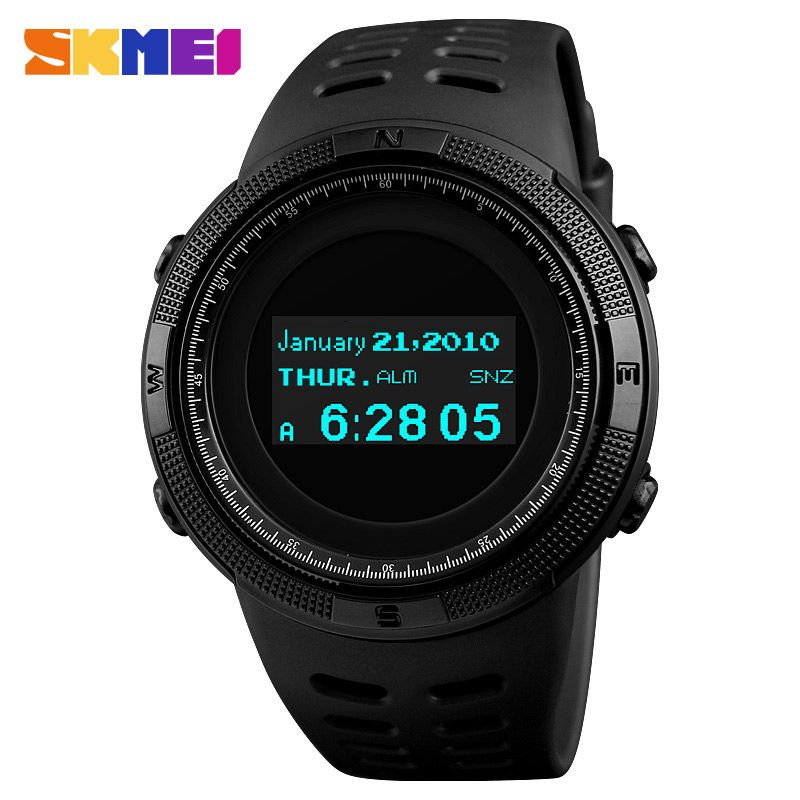 SKMEI Men's Digital Watch relogio masculino Outdoor Sport Man Clock Watches Compass Thermometer Top Brand Wristwatch Relojes1360