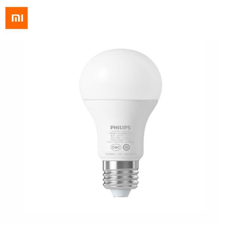 Lampe à bille d'origine Xiao mi Philips ampoule LED intelligente WiFi télécommande par Xiao mi maison APP Standard E27 ampoule 6.5 W 0.1A