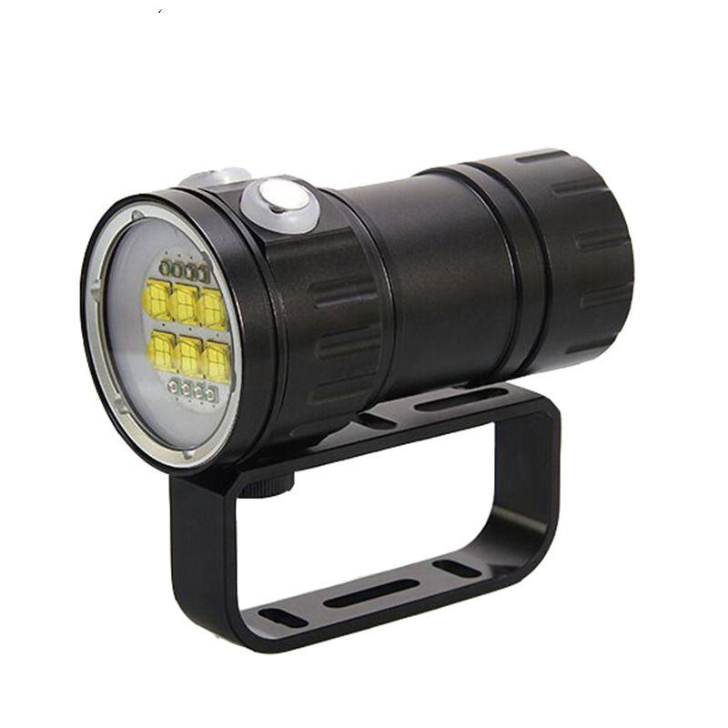 Neue 300 Watt professionelle fotografie füllen licht tauchen taschenlampe rot blau licht high power unterwasser 80 meter IPX8