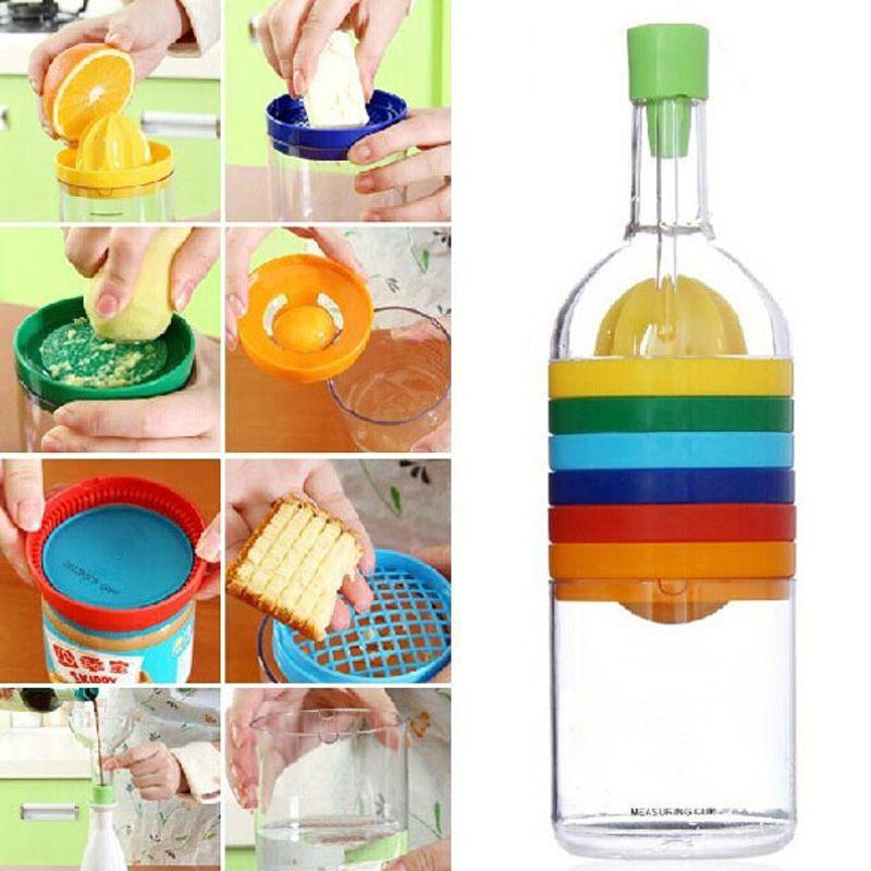 Новый многофункциональный 8 в 1 Кухня набор инструментов многоцелевой Кухня гаджет Кухня инструмент бутылка Лидер продаж