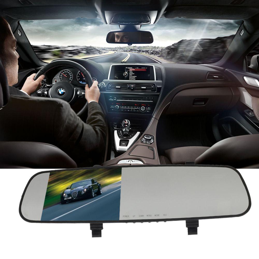 Car camera rearview mirror auto dvrs cars dvr parking video recorder registrator dash cam full hd 1080p night vision