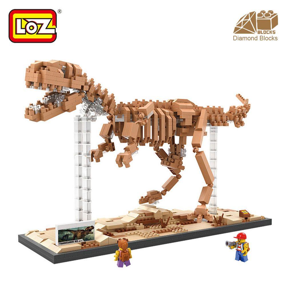 Monsieur. Froger LOZ Tyrannosaurus Rex Bloc De Diamant Créateur Série Dinosaur King Fossiles T-Rex Blocs de Construction Classique Jouets enfants