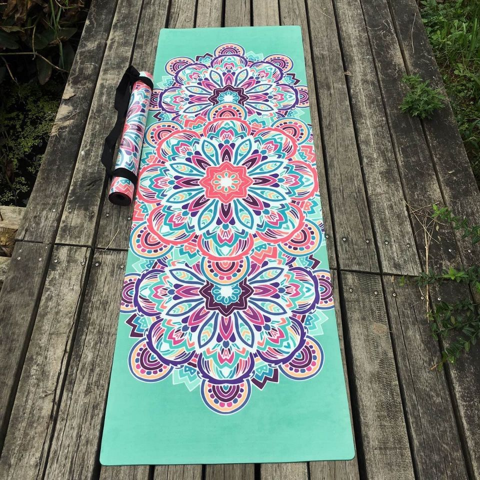 Nice design flower Natural Rubber Yoga Mat eco-friendly slip-resistant Hot Yoga best yoga mat for hot yoga Fitness Gym mat