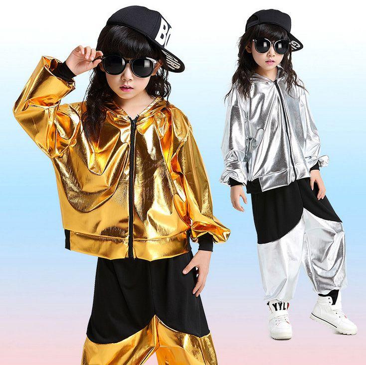Обувь для девочек Обувь для мальчиков цвета: золотистый, серебристый Костюмы для бальных танцев Джаз Хип-хоп танец конкурс костюм детская о...