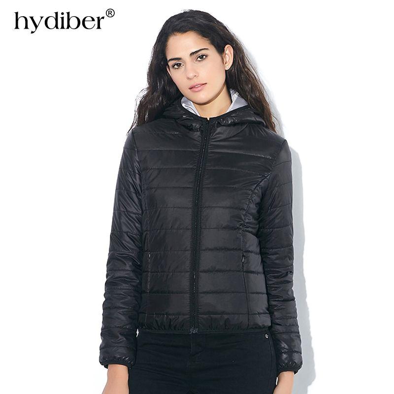 2017 neue Marke Herbst Frühlingsfrauen Grundlegendes Jacke Weibliche Dünne Reißverschluss Mit Kapuze Baumwolle Mäntel Casual Schwarz Winter Jacken