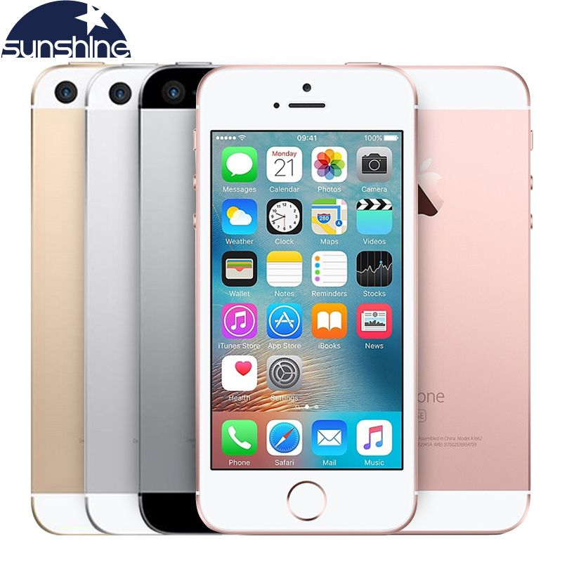 Original Unlocked Apple iPhone SE 4G LTE Mobile Phone iOS Touch ID Chip A9 Dual Core 2G RAM 16/<font><b>64GB</b></font> ROM 4.012.0MP Smartphone