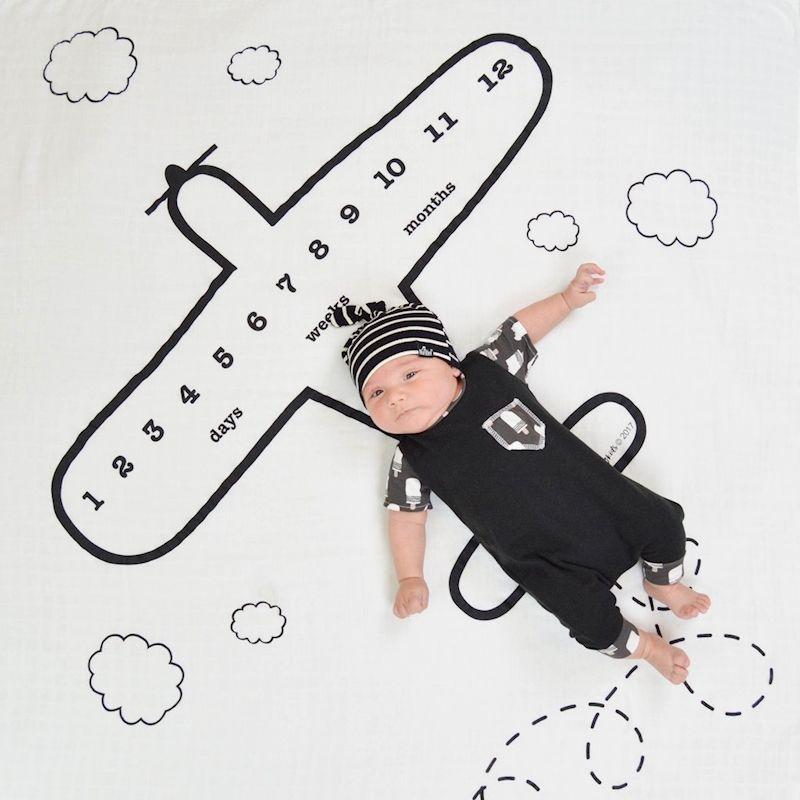 Самолет Дизайн одеяло для новорожденных фотографии детские одеяла реквизит одежда для малышей фотографии Аксессуары реквизит месяцев оде...