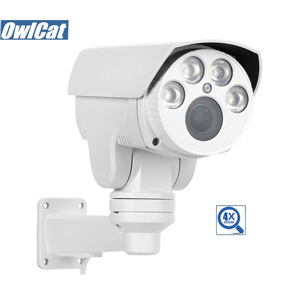 Caméra IP OwlCat HD 2MP 5MP caméra de vidéosurveillance extérieure de sécurité HD 4X 10X Zoom ONVIF étanche Vision nocturne IR Cut XMEye P2P