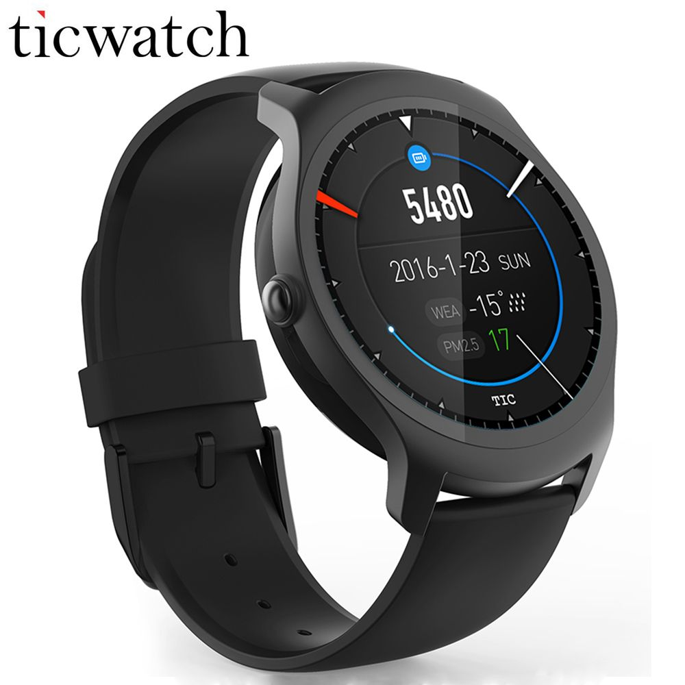 Ticwatch 2 GPS Smart watch 1.2GHz 512M RAM+4G ROM Heart Rate Monitor Smartwatch IP65 Waterproof Wearable Devices