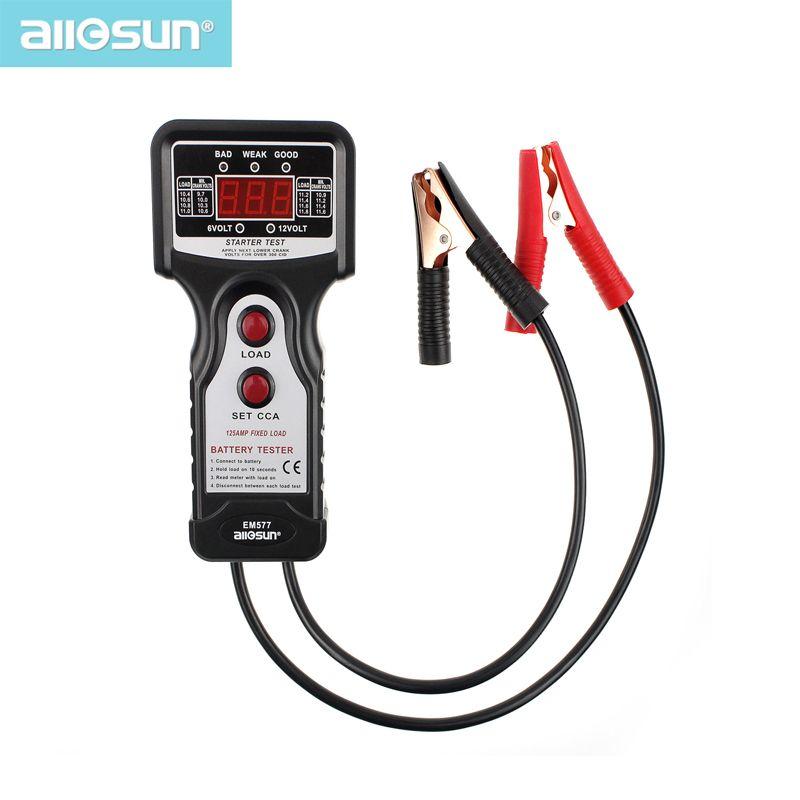 Testeur de batterie automobile/voiture numérique tout SUN 12 V CCA pour température froide/charge de batterie/tension de charge/démarreur EM577